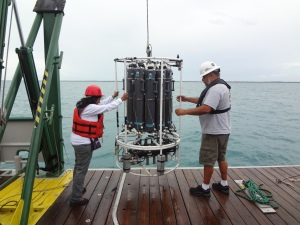 Guiding CTD in and out of water