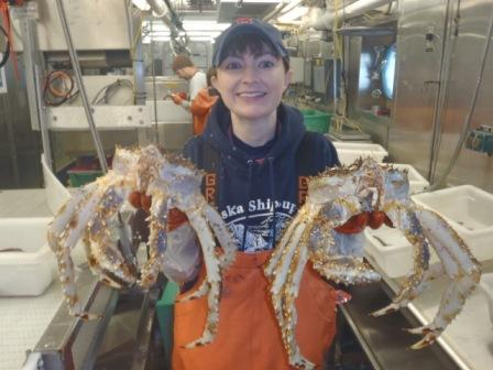 It wouldn't be a proper trip to the Bering Sea without Alaskan king crabs, right?