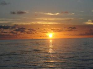Sunrise on the last day at sea.