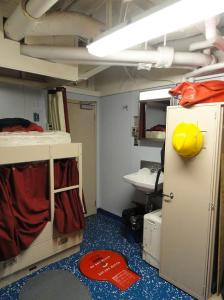 Mrs. Kaiser's stateroom on the NOAA Ship Nancy Foster.