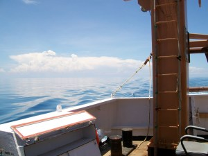View off the stern off the NOAA Delaware II