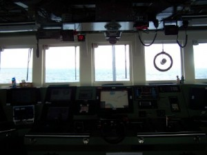 Pilot's view from the bridge