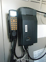 The iridium phone works via satellite. The crew can use it for personal calls during non-business hours (East Coast to Hawaii). That doesn't leave much time but it is also available on weekends.