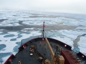 View of Ice Breaking from the Bridge