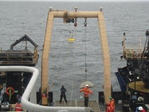 Launching a mooring buoy