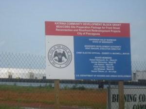 Signs indicating the impact of Katrina