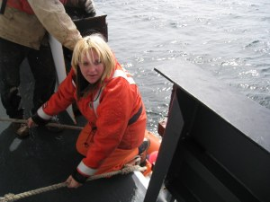 Getting on the rescue boat
