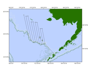 Map of ship route