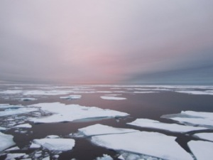 Arctic ocean at night