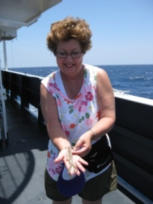 Holding the squid