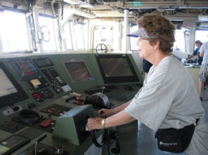 Me driving the ship