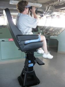 Me on the binoculars