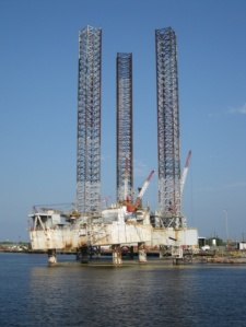 Out of service oil rigs