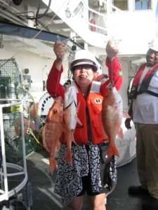 Melinda Storey with Red Snappers