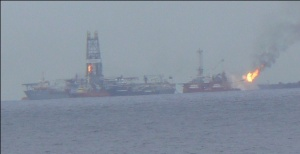 View of Deepwater Horizon