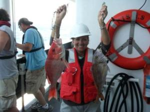 Holding a Red Snapper