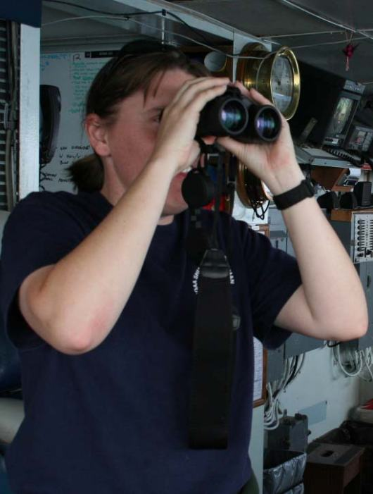 "LTjg Jennifer King, NOAA Corps Officer, B.S. Marine Biology   ""Science helps understand natural processes: how things grow, and how nature works. We need to help protect it. Science shows how in an ecosystem, everything depends on one another."""