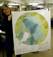 This is the IBCAO.  (International Bathymetric chart of the Arctic Ocean)  It is a great resource for ships exploring the Arctic Basin.