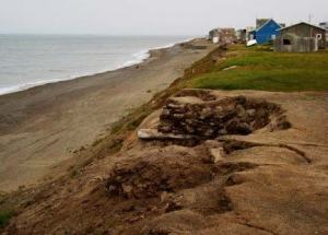 Erosion on the coast of Barrow, Alaska is an ever increasing problem.