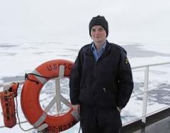 Erin Clark, Canadian Ice Services Specialist has been working with us on the Healy.
