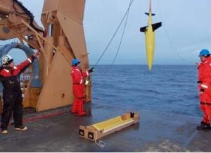 Final check of the Seaglider before it was launched.