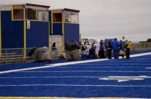 Barrow High School was built in 1983. One of the strangest sights in town is the bright blue football field. The story of how Barrow obtained this field will have to wait for another day.