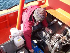 I'm lending a hand to repair a boat engine.  The batteriesmust be disconnected for safety when working with the starter and other electrical equipment.