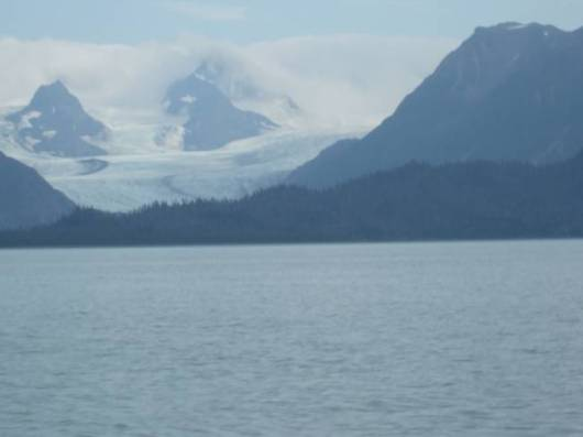 As we were bringing Mr. Randall back to Homer we saw this glacier in the distance.