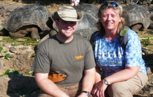 My son, Aaron, and I at the Darwin Research Center on Puerto Ayora, Galapagos Islands, Ecuador