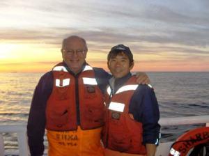 Duane Sanders with Keiichi Uchida: A fellow scalloper!