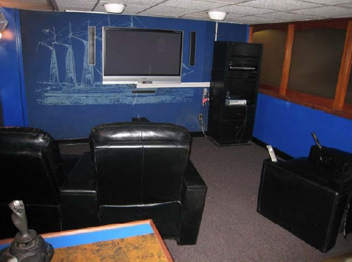 The Lounge - Here's the lounge where movies and video games can be watched.