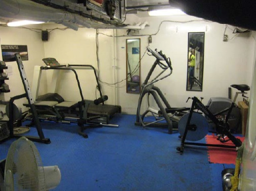 The Gym - The gym is located on the lowest level of the ship.  This is where you can work off the great food that you've eaten.