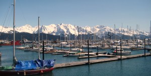 View of Seward Harbor.