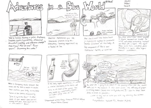 Adventures in a Blue World, Issue 3