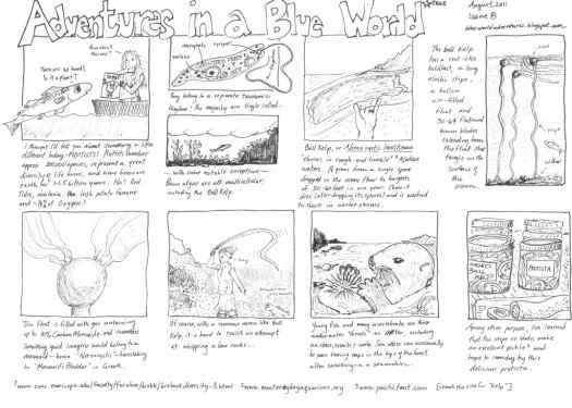 Adventures in a Blue World, Issue 8