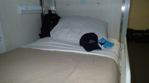Uli Uli Manu taking a break on my bunk.
