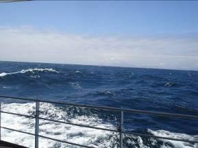 The Rainier sails through 10-foot swells!