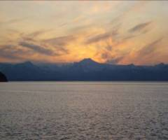 Sunset in the Pavlof Islands