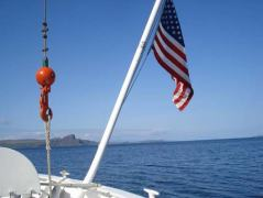 """When the American flag is flown on a U.S. ship it is called an """"Ensign."""""""