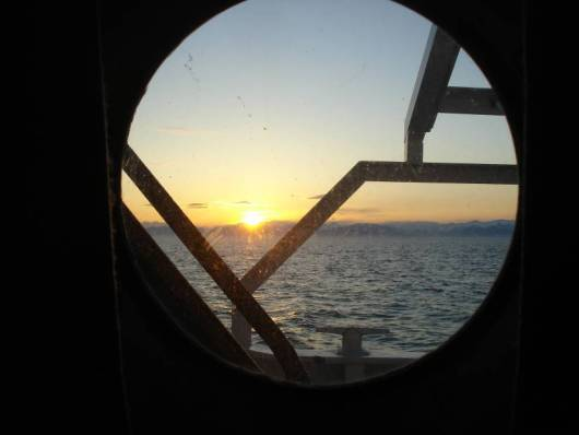 A final sunset through my porthole