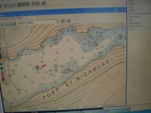 A digital nautical chart