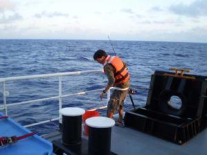 Kuhio setting up for fishing