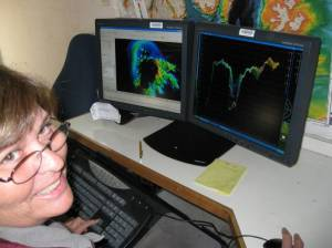 Sitting in with a night processor allowed the opportunity to review data collected during the day and clean out noise that prevents the computer from selecting the best representation of the sea floor.