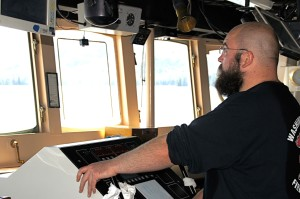 At the helm