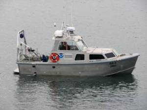 One of the Rainier's small boats, also called a launch