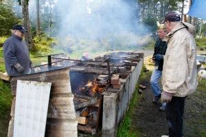 The fish barbecue