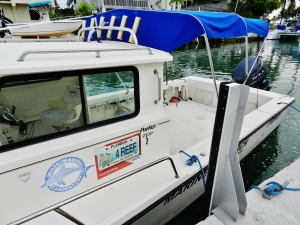 Expedition boat about to visit the corals reef off Summerland Key from Mote Marine/NOAA Lab