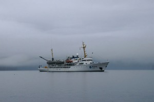 The NOAA Ship Rainier in the fog