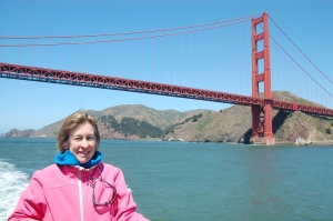 On the water with the Golden Gate Bridge in the background