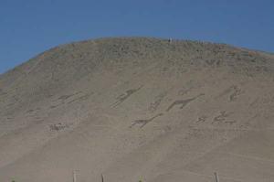 Geoglyphs on a hillside